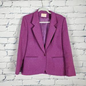 Pendleton Purple Wool Blazer